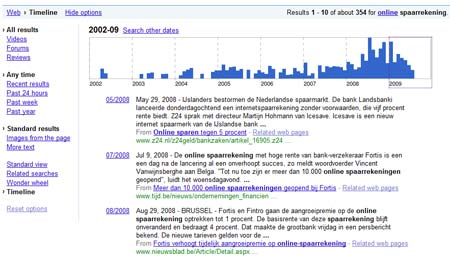 Google search timeline 1