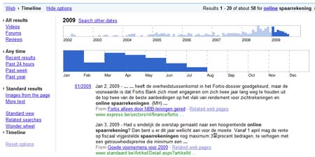 Google search timeline 2